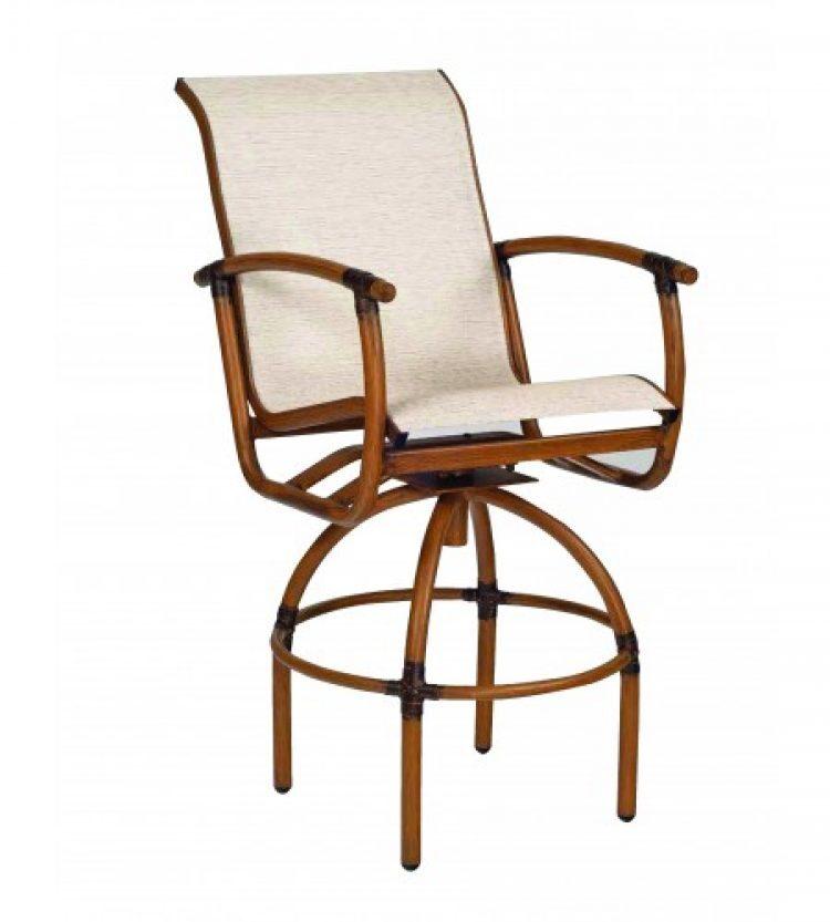 glade isle sling swivel bar stool