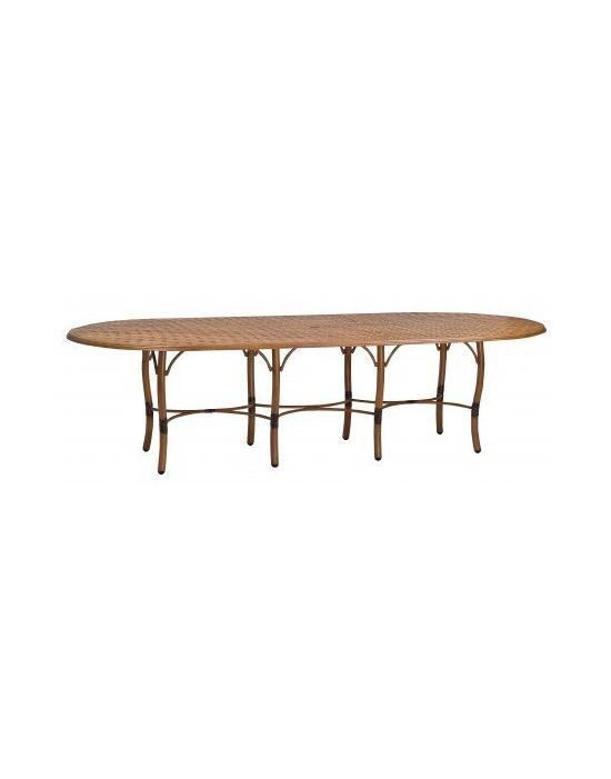 Glade Isle Tables Large Rectangular Dining Table With Thatch Top