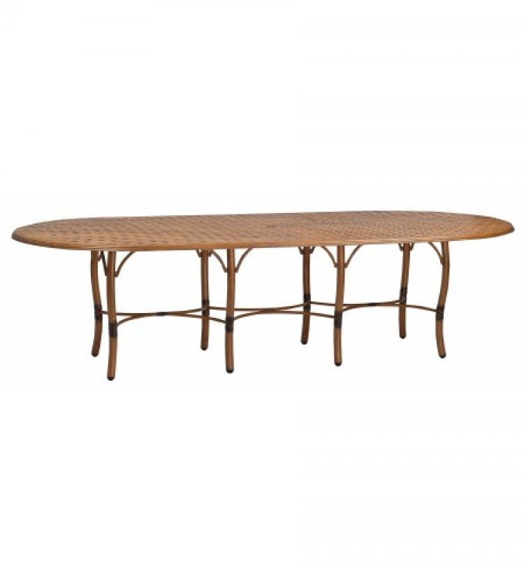 glade isle tables large rectangular dining tale with thatch top