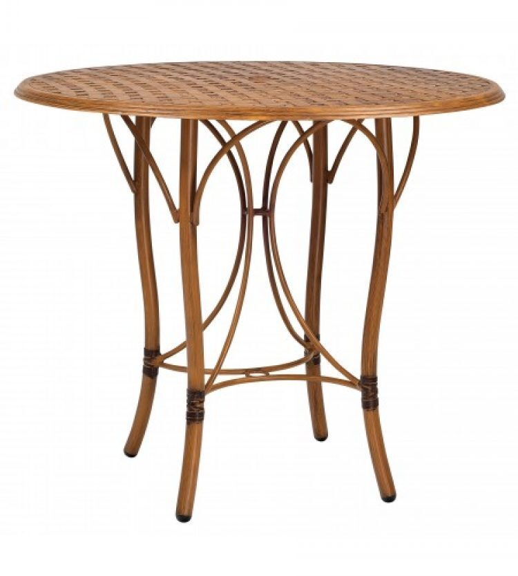 glade isle tables round bar height table with thatch top