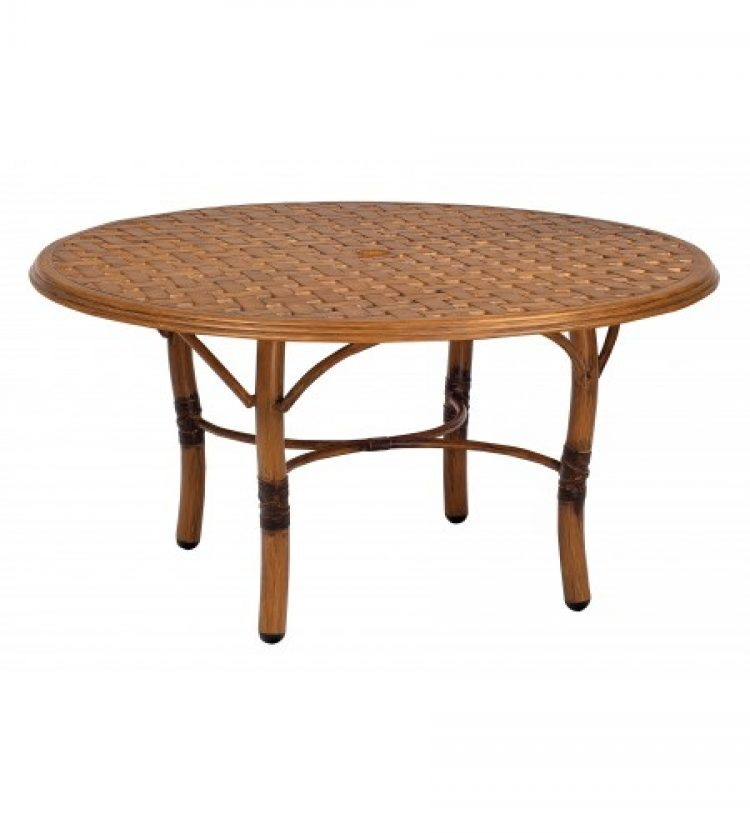 glade isle tables round coffee table with thatch top