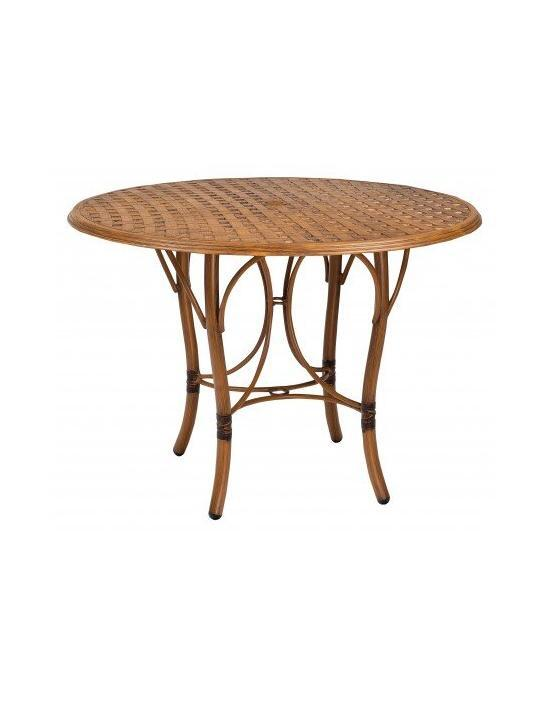 Glade Isle Tables Round Counter Height Table With Thatch Top