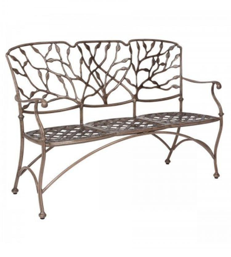 heritage three seat bench without cushion