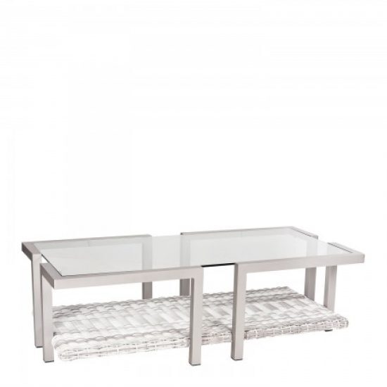 Imprint Coffee Table With Glass Top