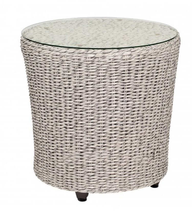 isabella end table with glass top