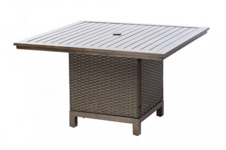 la llima 44 square dining table w umb hole