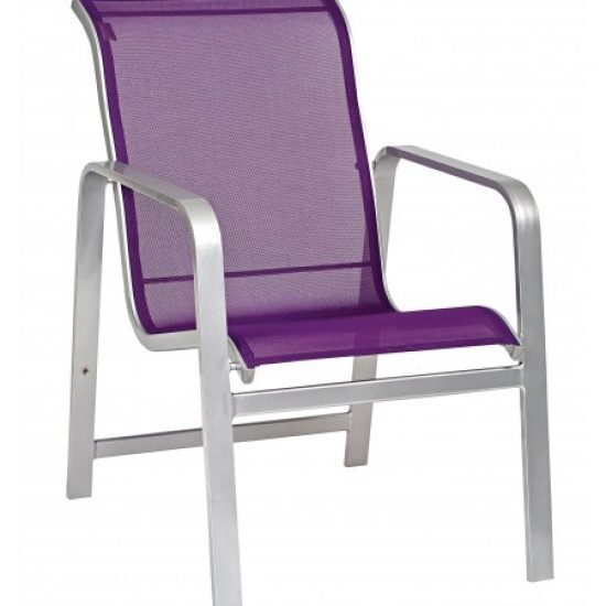 Landings Sling Dining Arm Chair - Stackable