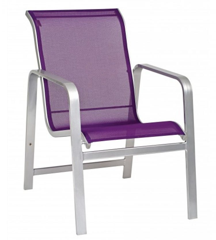 landings sling dining arm chair stackable