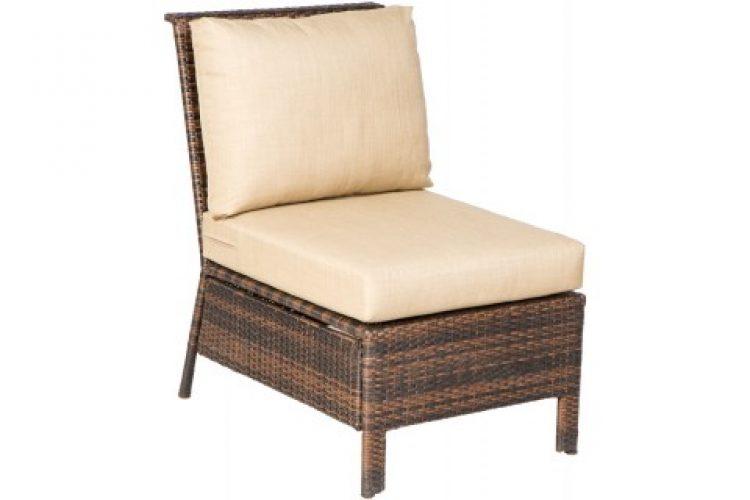logan sectional armless chair