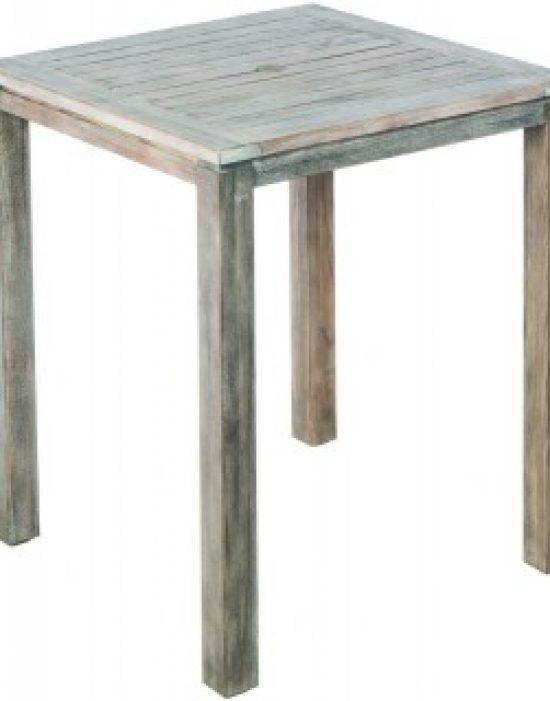 "MALVERN 36"" SQUARE WOOD BAR TABLE W/ UMB. HOLE (WAS 46-1214)"