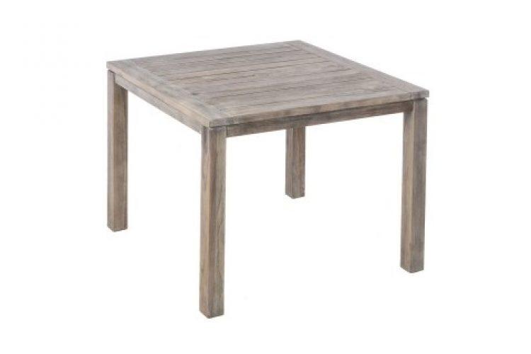 malvern 40 square wood dining table w umb hole