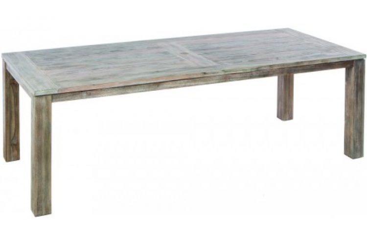 malvern 94.5 rect wood dining table w umb hole