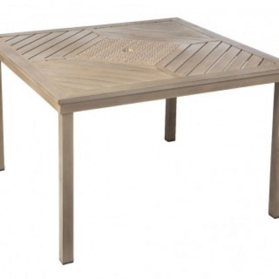 """MARCO BAY 44"""" SQUARE DINING TABLE W/ UMB. HOLE"""