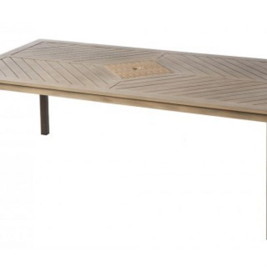 """MARCO BAY 84"""" RECT. DINING TABLE W/ UMB. HOLE"""