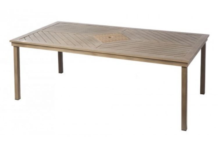 marco bay 84 rect dining table w umb hole
