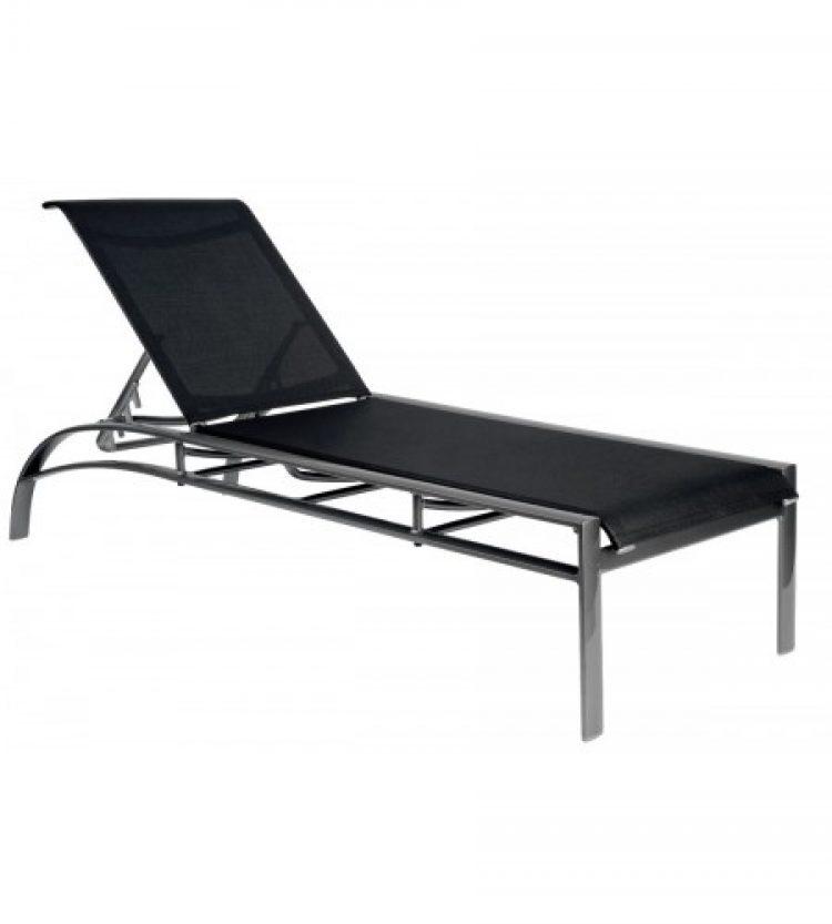 metropolis sling adjustable chaise lounge stackable