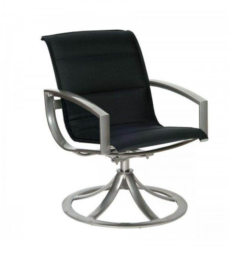 metropolis swivel dining arm chair