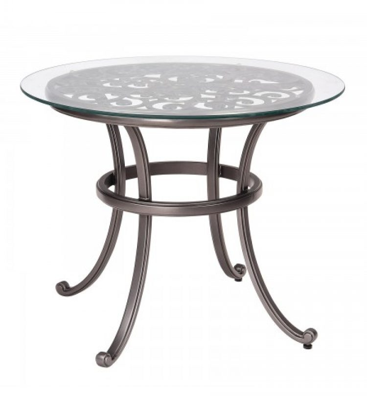 new orleans bistro tabl with glass top