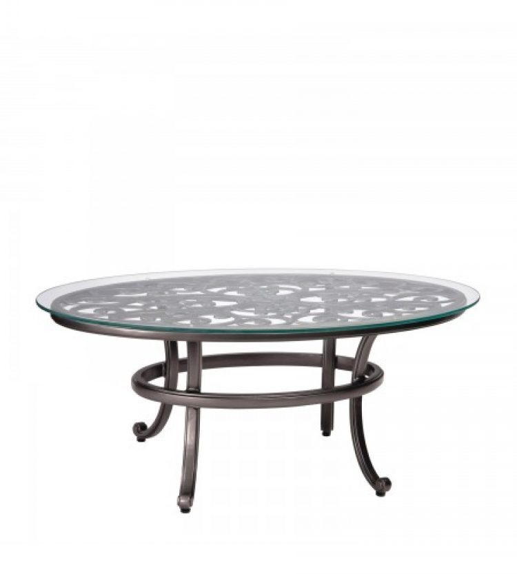 new orleans coffee table with glass top