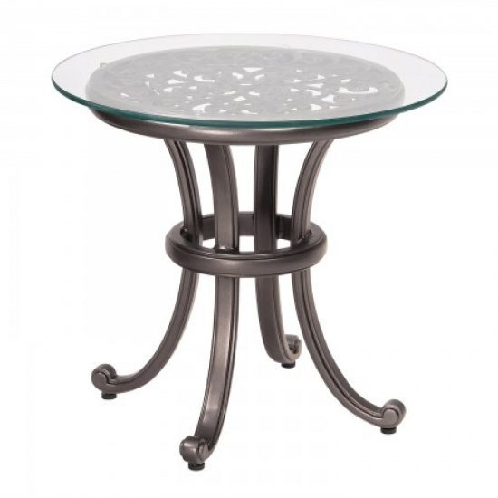 New Orleans End Table With Glass Top