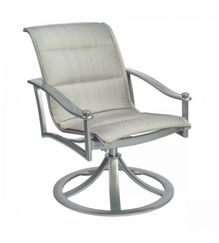 nob hill padded sling swivel rocking dining arm chair