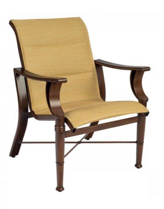 Arkadia Padded Sling Dining Arm Chair