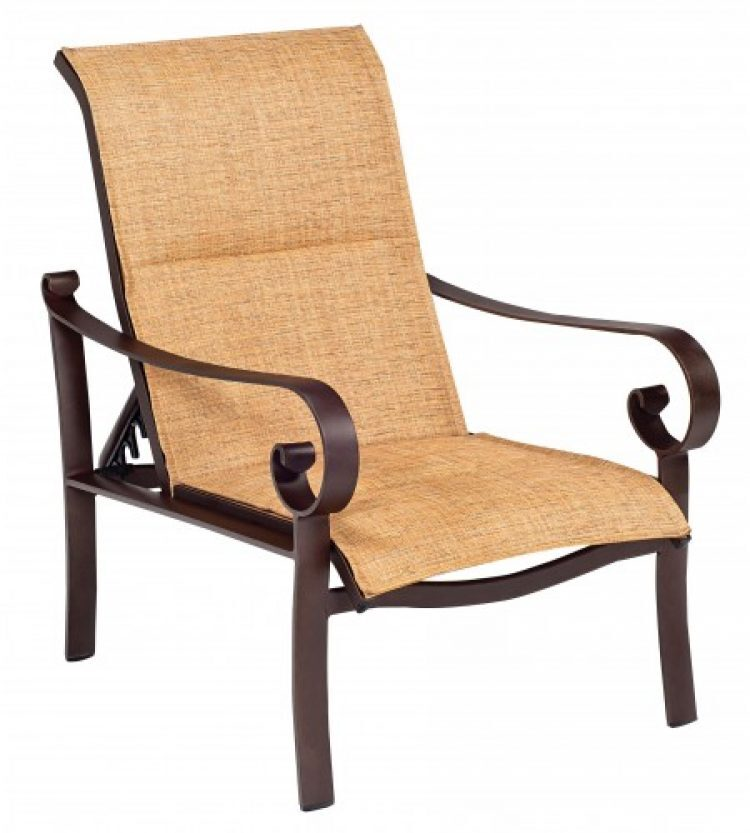 padded sling adjustable lounge chair
