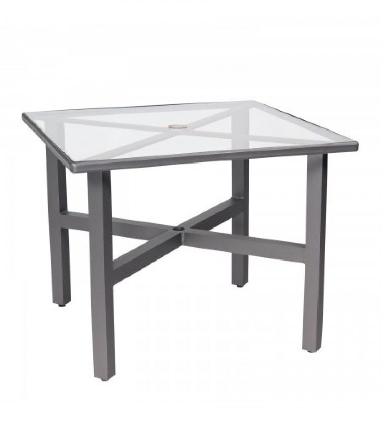 palm coast 36 square umbrella table with clear glass