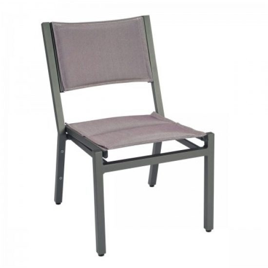 Palm Coast Padded Sling Dining Side Chair - Stacking
