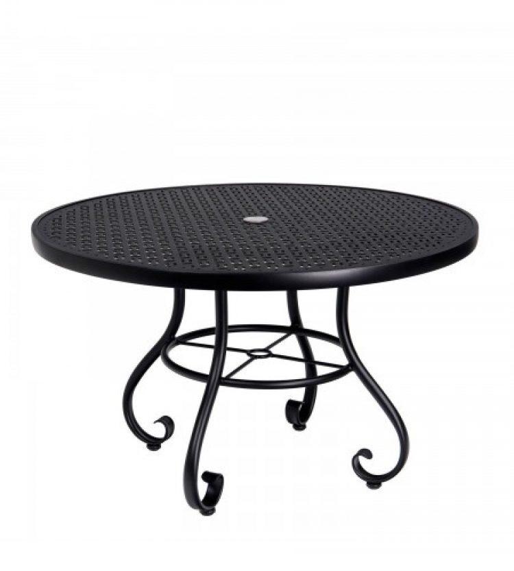 ramsgate 48 round umbrella table lattice