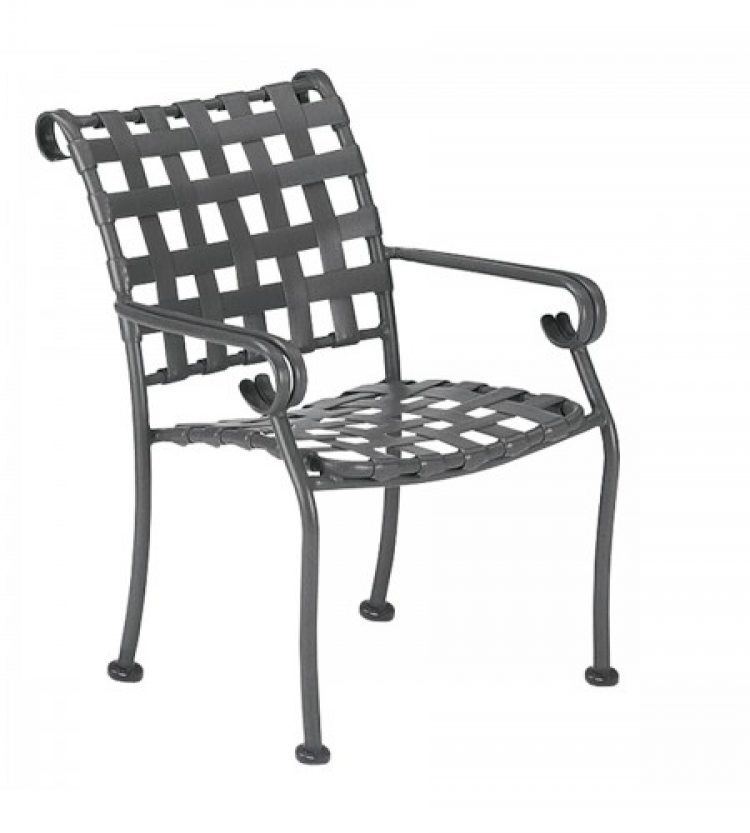 ramsgate strap dining arm chair stackable