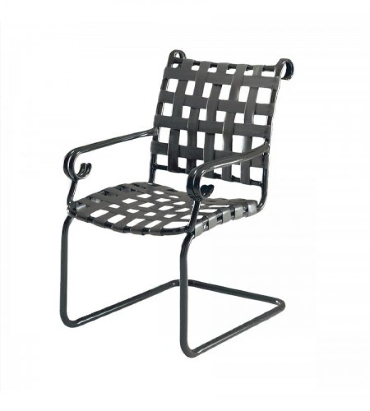 ramsgate strap spring base dining arm chair