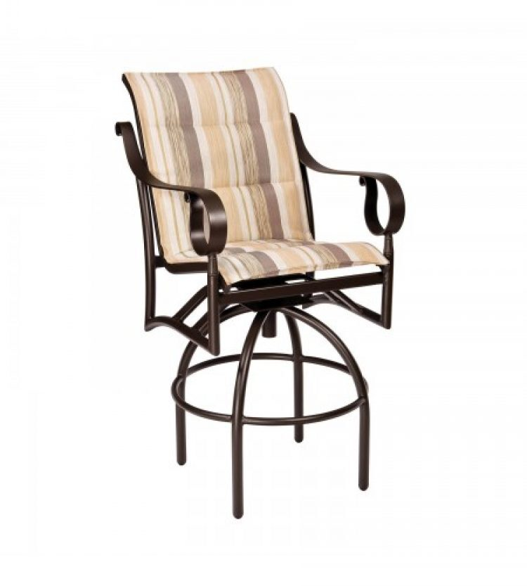 ridgecrest padded sling swivel bar stool