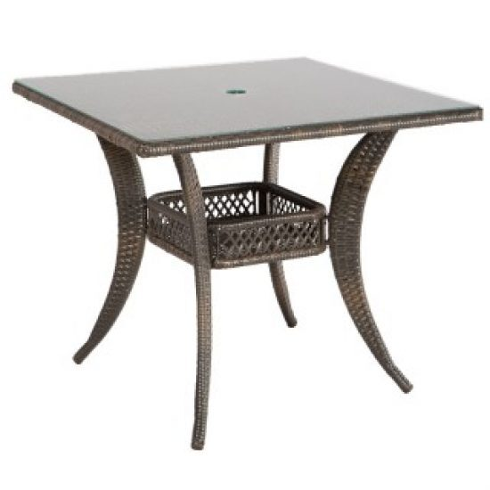 """TUTTO 36"""" SQUARE DINING TABLE WITH UMBRELLA HOLE"""