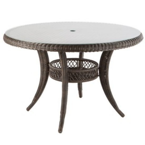 """TUTTO 48"""" ROUND DINING TABLE WITH UMBRELLA HOLE"""