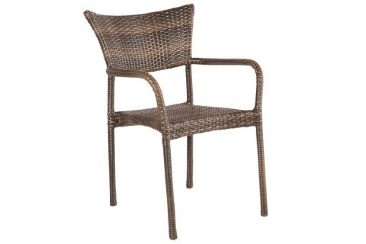 tutto stackable dining arm chair