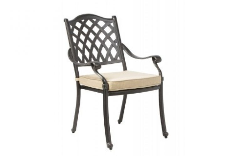 Twining stackable dining arm chair