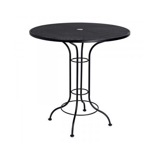 "Mesh Top 42"" Round Umbrella Bar Height Table"