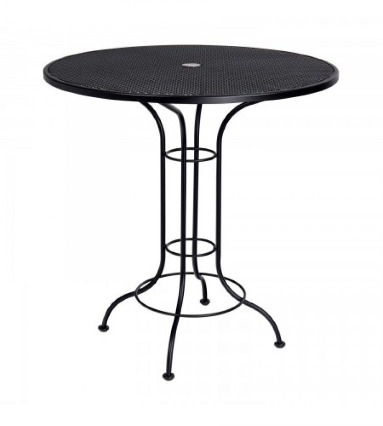 aurora mesh top 42 round umbrella bar height table
