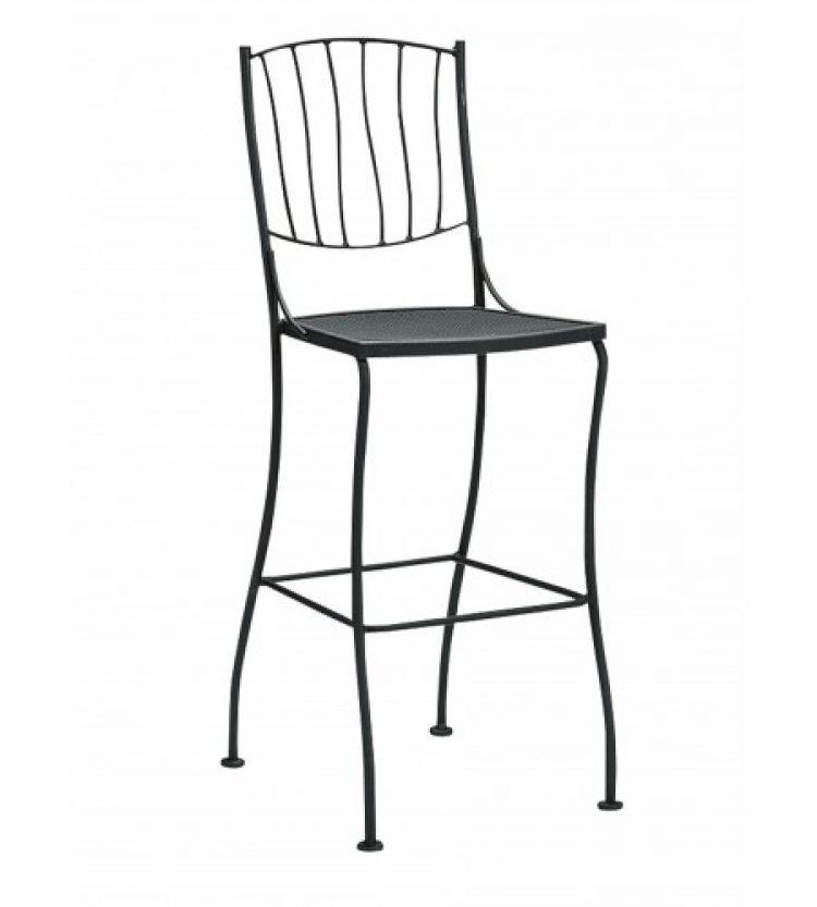 aurora stationary bar stool side