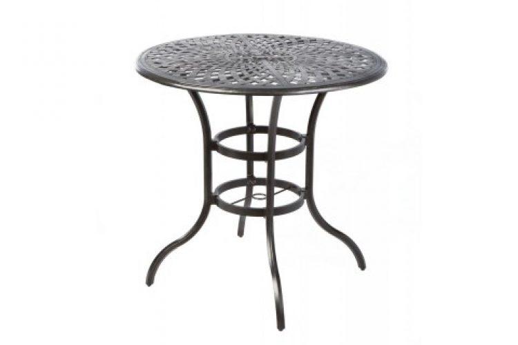 bay leaf 42 round bar table w umb hole