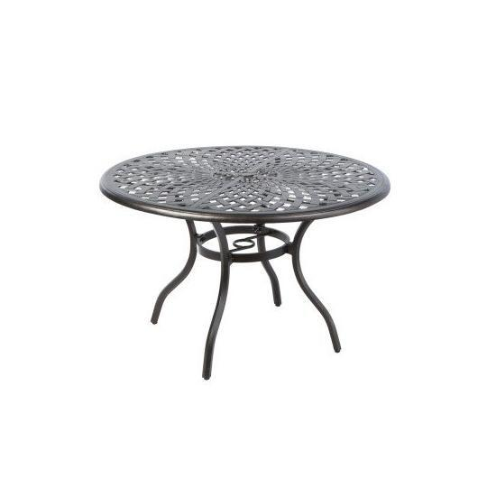 """BAY LEAF 48"""" ROUND DINING TABLE W/ UMB. HOLE"""