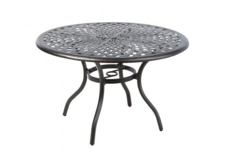 bay leaf 48 round dining table w umb hole