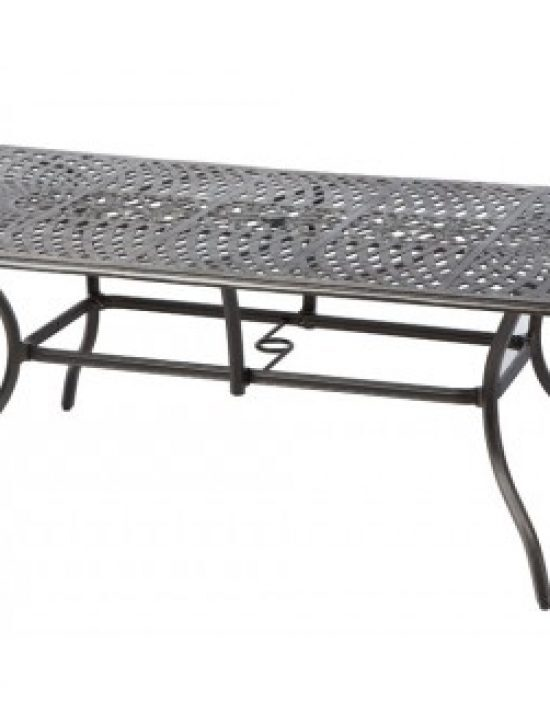 """BAY LEAF 87"""" X 42"""" RECT. DINING TABLE W/ UMB. HOLE"""