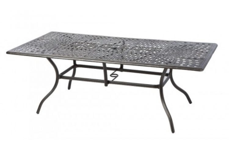 bay leaf 87 x 42 rect dining table w umb hole