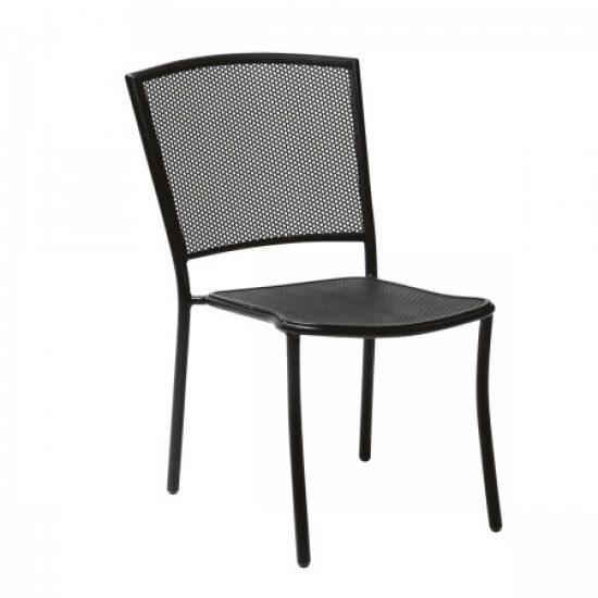 Café Series Albion Textured Black Side Chair - Stackable