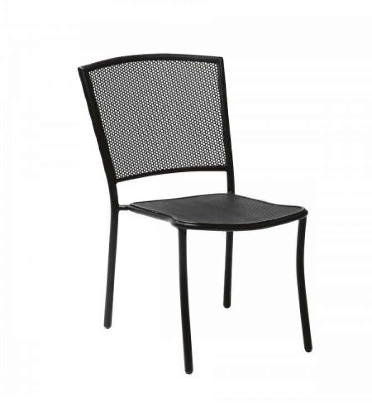 cafe series albion textured black side chair stackable