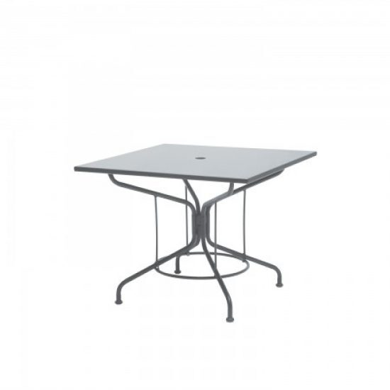 "Café Series Mercury 36"" Square Solid Top Umbrella Table"