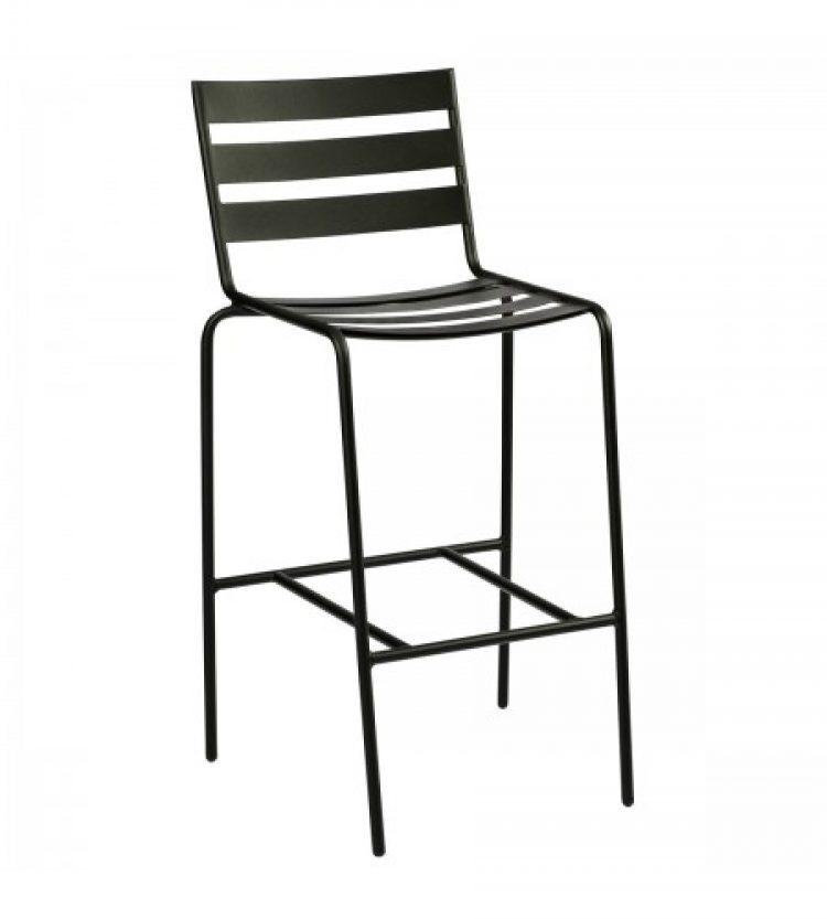 cafe series metro textured black stationary bar stool