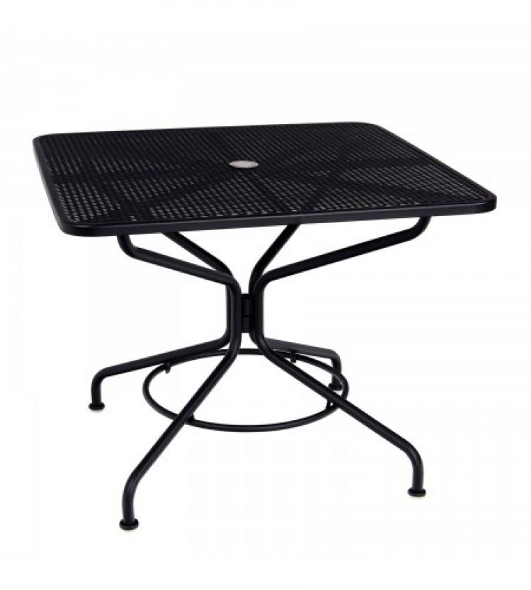 cafe series textured black and plus 36 square dining umbrella table